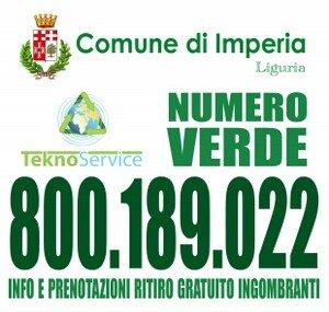 - NASCE IL NUOVO NUMERO VERDE TEKNOSERVICE PER IL RITIRO GRATUITO DI IMGOMBRANTI NEL COMUNE DI ...